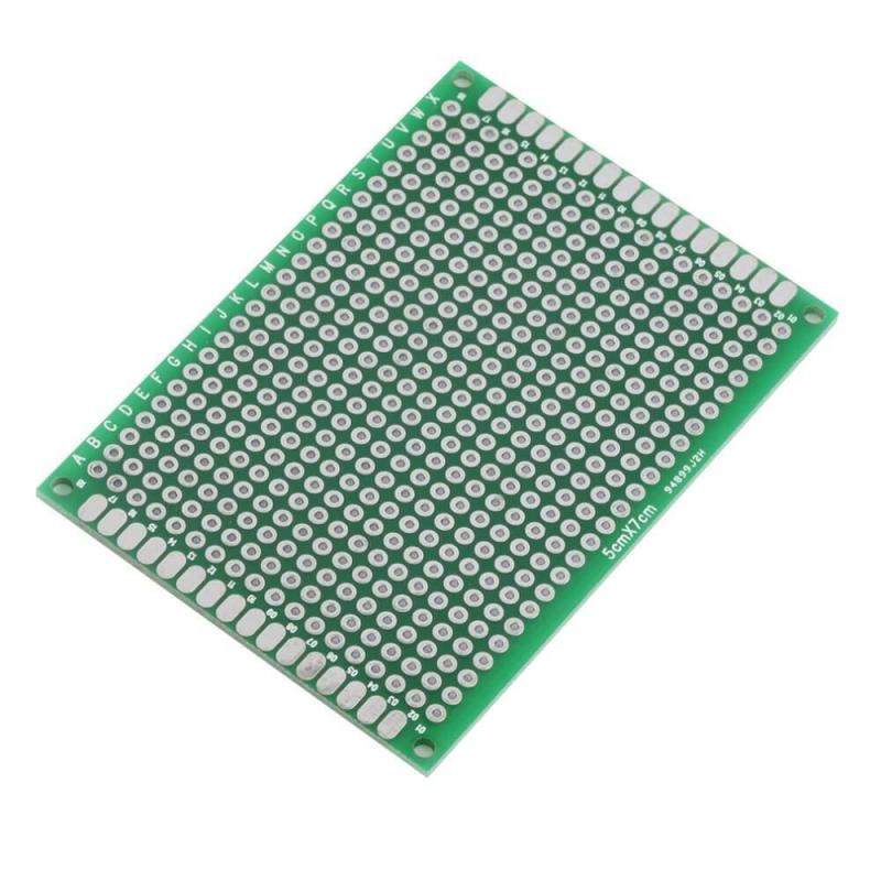 PLACA PCB PROTOTIPOS DOBLE CARA 5x7cm