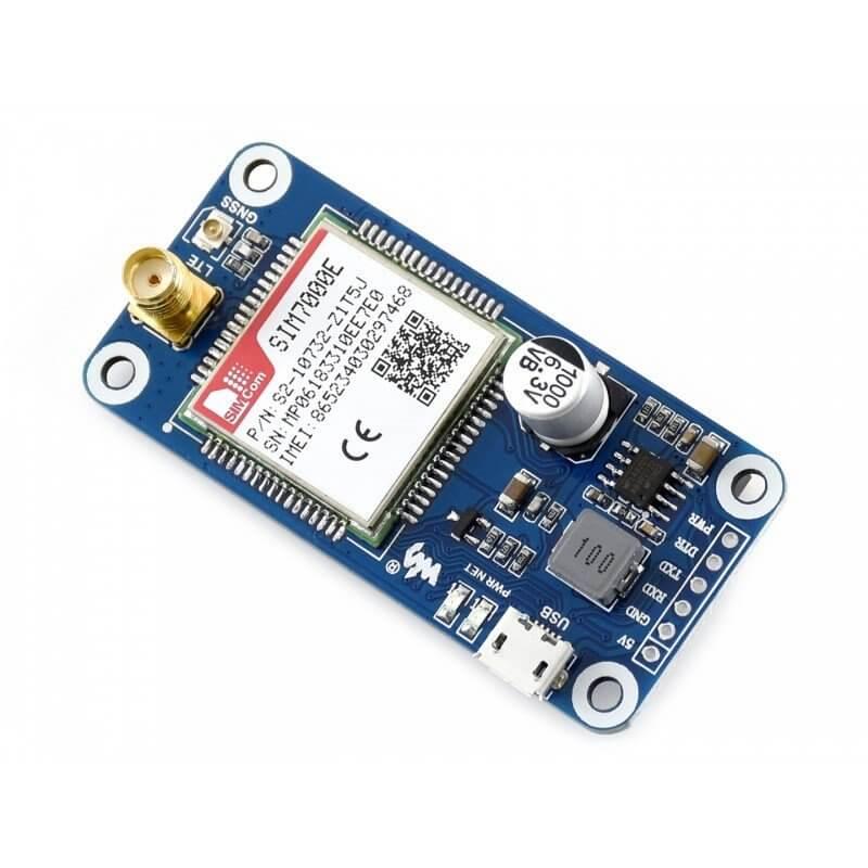 HAT NB-IoT / EDGE / GPRS / GPS SIM7000E PARA RASPBERRY PI
