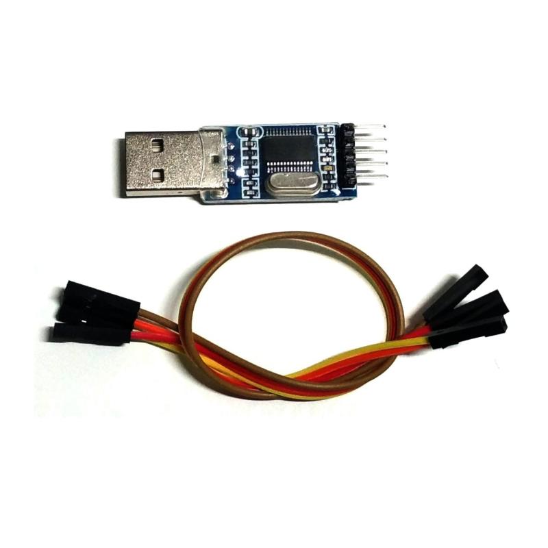 CONVERSOR USB A SERIE RS232 UART TTL 3.3V + CABLES DUPONT - PL2303HX