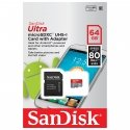 SANDISK ULTRA MICROSDXC 64GB CLASS10 UHS-I 80MB/S