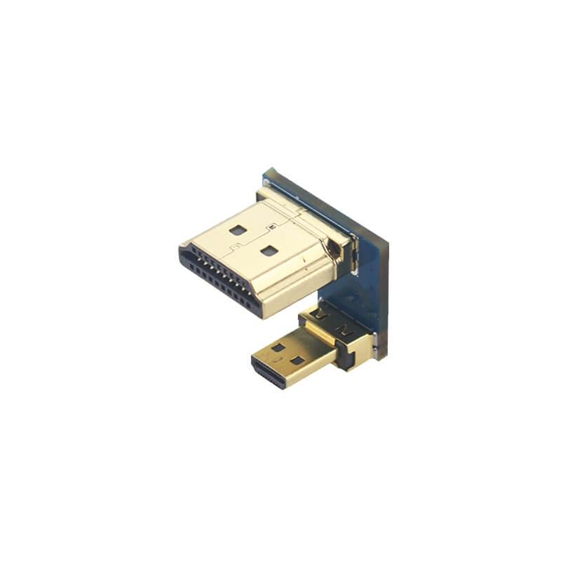 CONECTOR PUENTE HDMI A MICRO HDMI (TIPO D) M/M