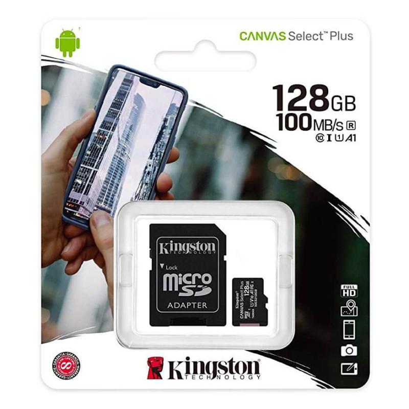 Editando: KINGSTON CANVAS SELECT PLUS MICROSDXC 128GB CLASS10 UHS-I A1 100MB/S