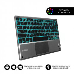 SUBBLIM TECLADO BACKLIT BLUETOOTH CON TOUCHPAD