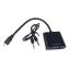 CONVERSOR ACTIVO MICRO HDMI (TIPO D) A VGA + AUDIO