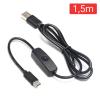 CABLE ALIMENTACION USB-C 1,5 METROS CON INTERRUPTOR