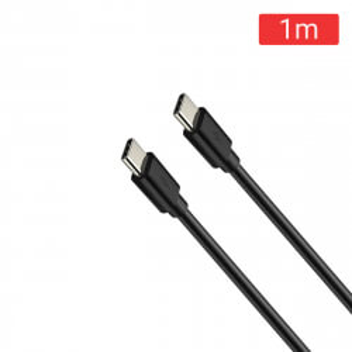 CABLE USB-C/M A USB-C/M 1M. NEGRO