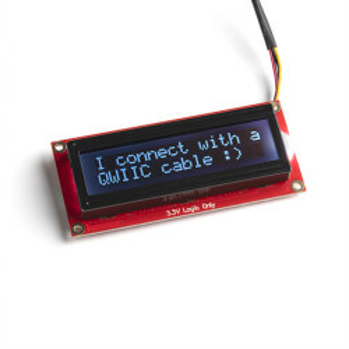 SparkFun 16x2 SerLCD - RGB Text (Qwiic)
