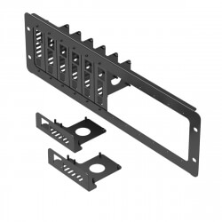 UCTRONICS 19 inch 3U Rack Mount for Raspberry Pi 4, with 8 Mounting Plates, Extendable to Support 12 Units of All Raspberry Pi B