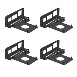 UCTRONICS Mounting Plates for Raspberry Pi 4 B Models, Compatible with 19 inch 3U Rack Mount, 4-Pack