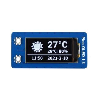 1.3inch OLED Display Module for Raspberry Pi Pico, 64×128, SPI/I2C