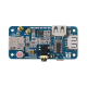 SIM7600G-H 4G HAT (B) for Raspberry Pi, LTE Cat-4 4G / 3G / 2G Support, GNSS Positioning, Global Band