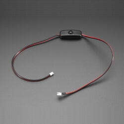 CABLE EXTENSION JST PH2 2 PINES 50CM - BOTON ON/OFF