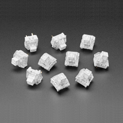 PULSADOR MECANICO KAILH - CLICKY WHITE - PACK 10 - COMPATIBLE CHERRY MX WHITE