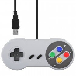 CONTROLADOR RETRO SNES GAMEPAD USB PARA PC, MAC, LINUX Y RETROPIE