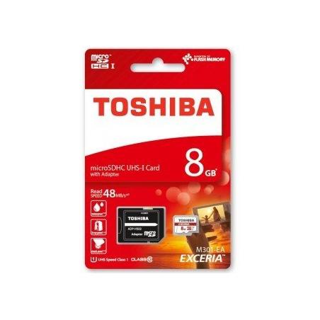 TOSHIBA TARJETA MEMORIA MICROSDHC 8GB CLASS10 UHS-I 48MB/S THN-M301R0080EA