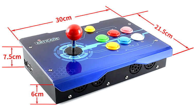 Waveshare arcade Console 1 player - Dimensiones