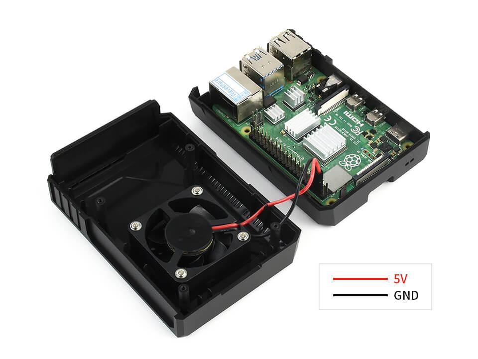 Spacecraft case con ventilador para Raspberry Pi 4