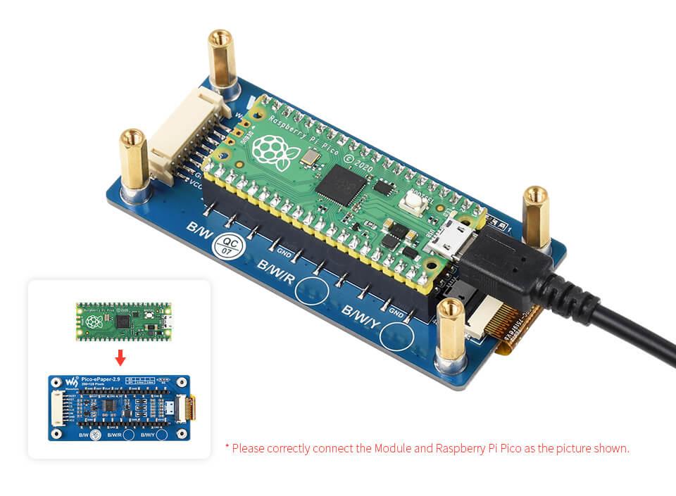 Display e-ink para Raspberry Pi Pico