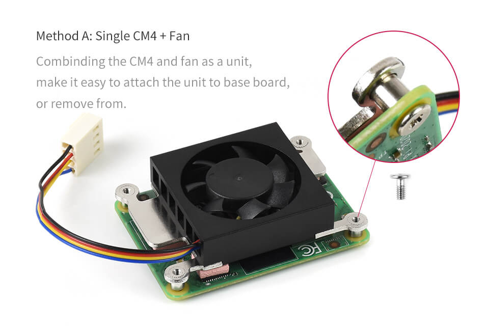 Dedicated 3007 Cooling Fan for Raspberry Pi Compute Module 4 CM4, Low Noise