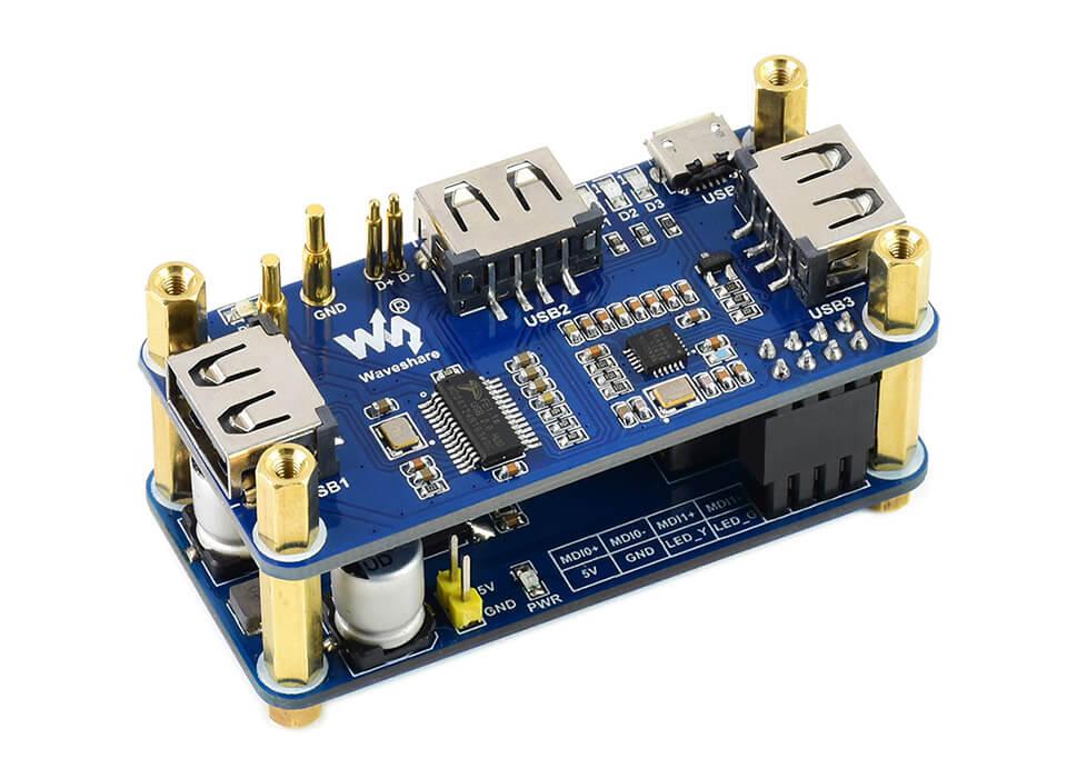 PoE Ethernet / USB HUB HAT