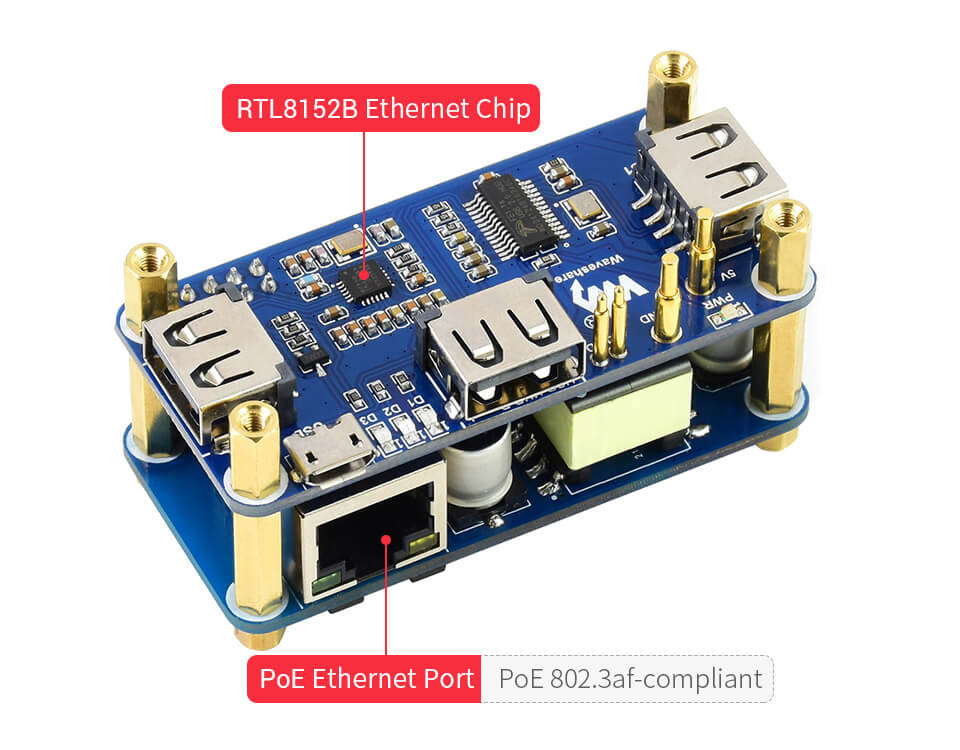 SB to Ethernet conversion by the RTL8152B chip, 10M / 100M auto-negotiation